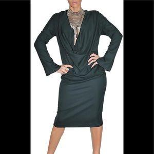 Salvatore Ferragamo Green Wood Coctail dress, 38